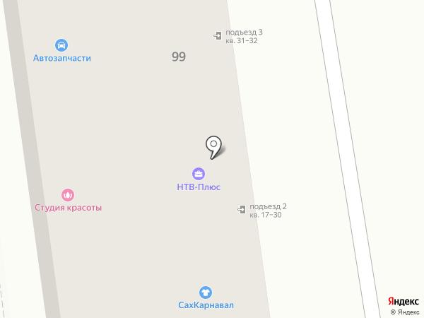 Фабрика Смеха на карте Южно-Сахалинска
