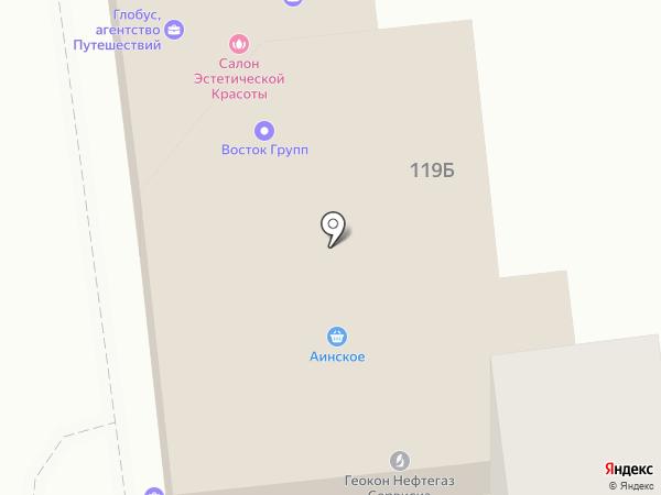 Персонал на карте Южно-Сахалинска