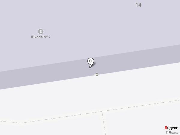 Начальная общеобразовательная школа №7 на карте Южно-Сахалинска