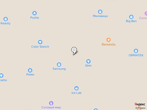 Pandora на карте Южно-Сахалинска
