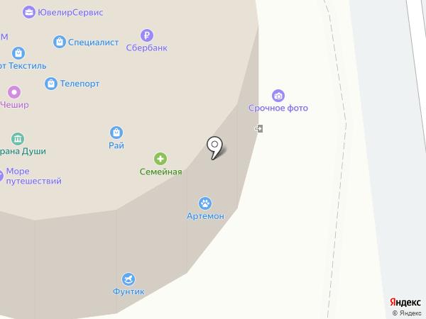 Немо на карте Южно-Сахалинска