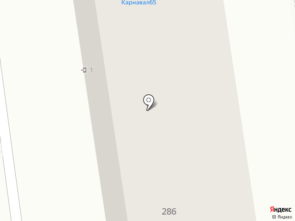 КАРНАВАЛ на карте Южно-Сахалинска