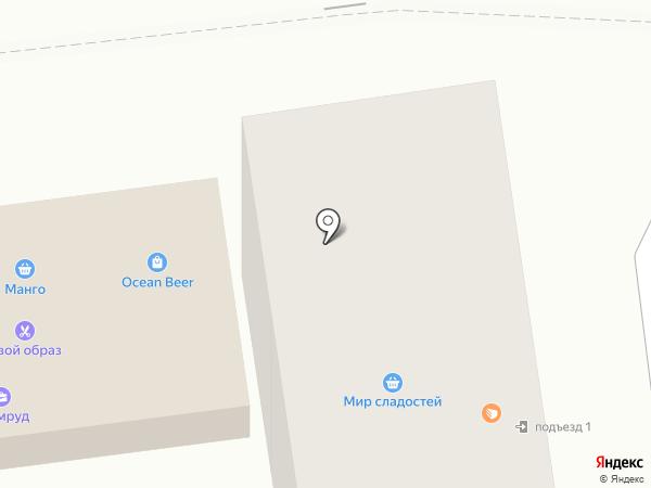 Оушен Бир на карте Южно-Сахалинска
