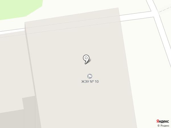 ЖЭУ-10, МУП на карте Южно-Сахалинска