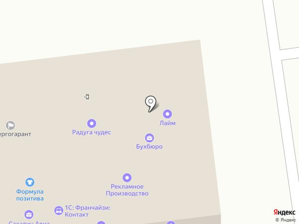 Жилой квартал на карте Южно-Сахалинска