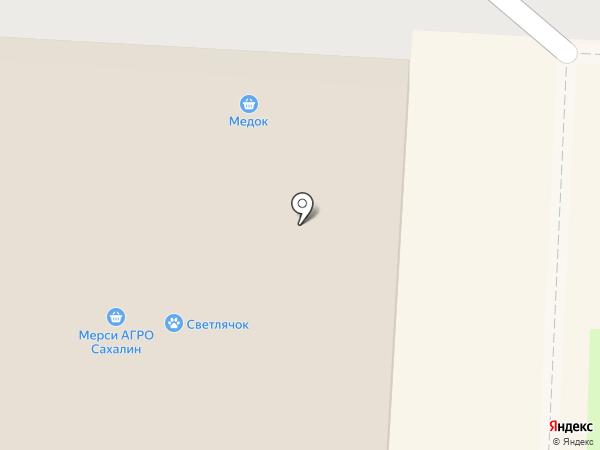 Фрэш на карте Долинска