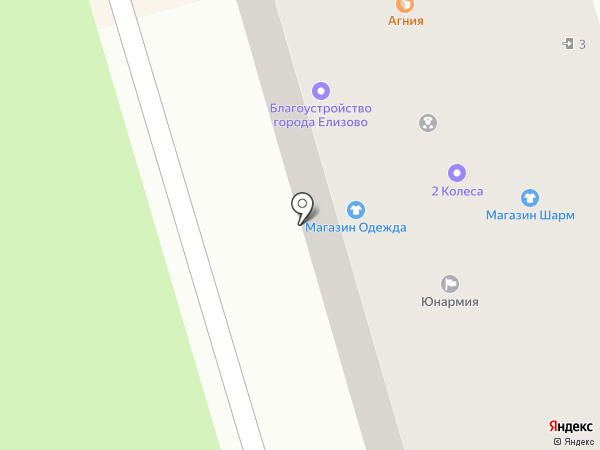Благоустройство города Елизово на карте Елизово