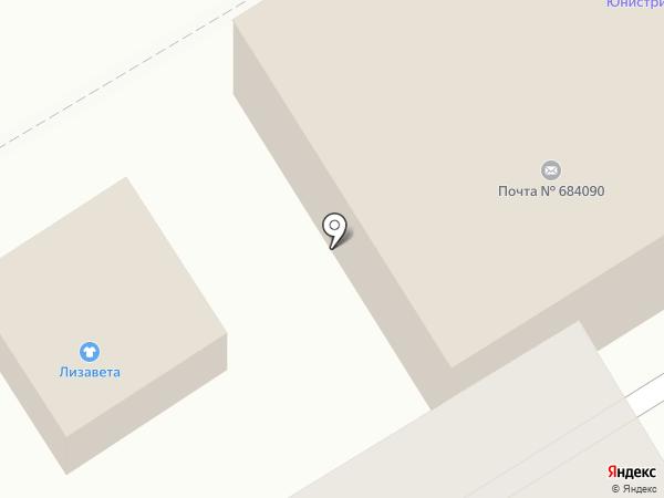 Почтовое отделение на карте Вилючинска