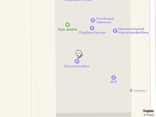 Банкомат, Азиатско-Тихоокеанский Банк на карте Вилючинска