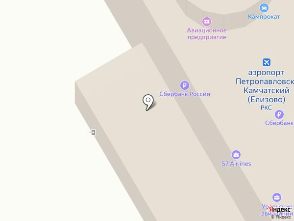 Аэрофлот - Российские Авиалинии на карте Елизово