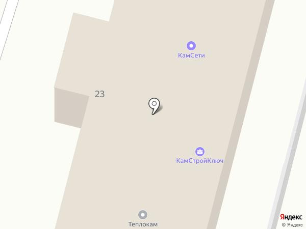 Строй и Ка на карте Петропавловска-Камчатского