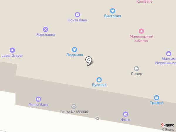 Бегемот на карте Петропавловска-Камчатского