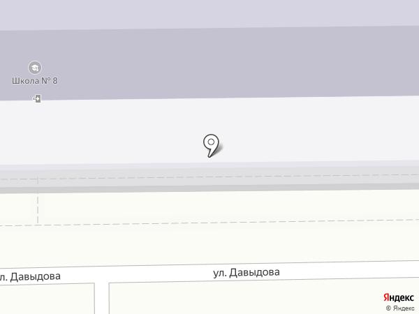 Средняя общеобразовательная школа №8 на карте Петропавловска-Камчатского