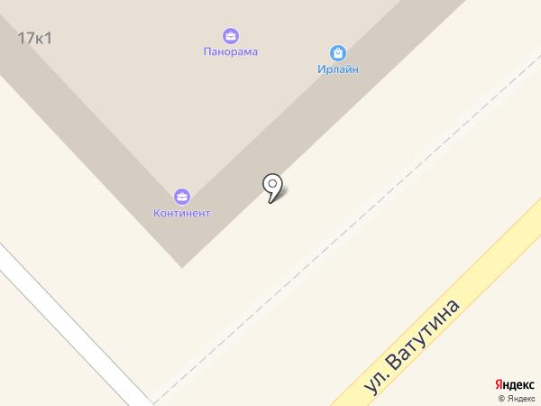 Гамма на карте Петропавловска-Камчатского
