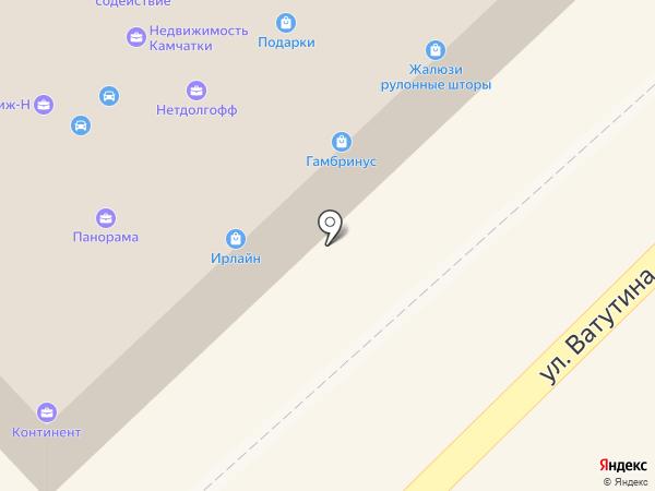 Панорама на карте Петропавловска-Камчатского