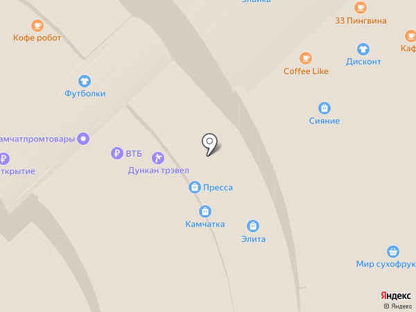 Авокадо на карте Петропавловска-Камчатского