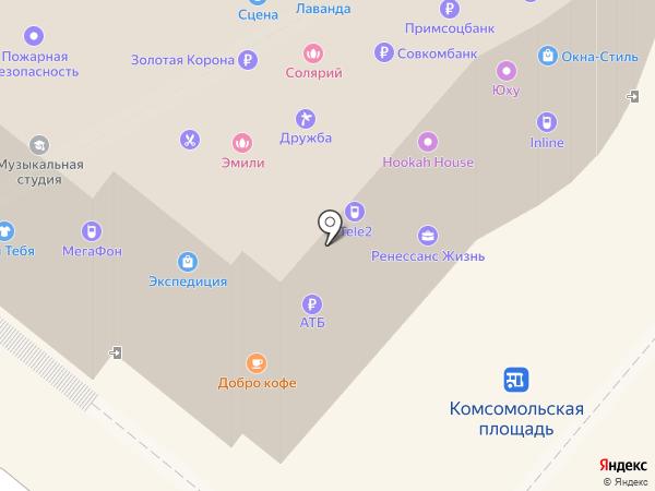 Эталон на карте Петропавловска-Камчатского