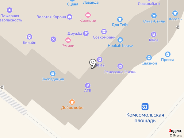Пресса на карте Петропавловска-Камчатского