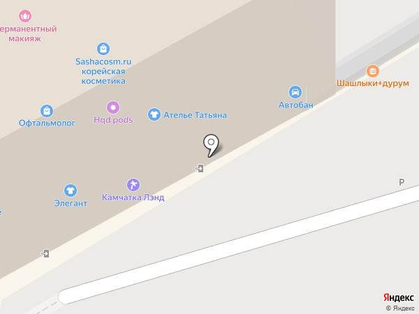 Айрон Сити на карте Петропавловска-Камчатского