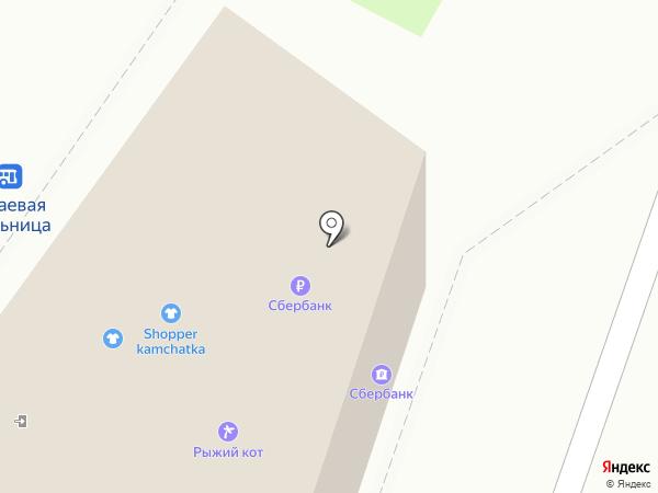 Торговый павильон на карте Петропавловска-Камчатского