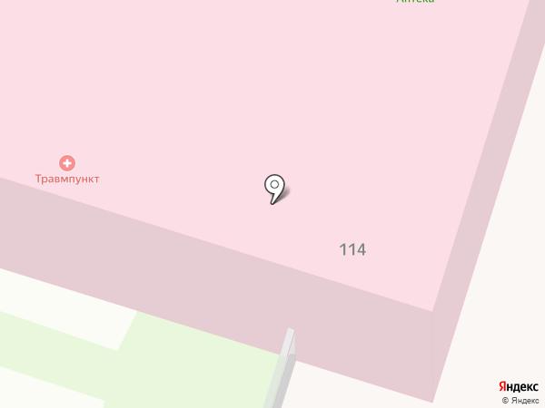 Городская поликлиника №1 на карте Петропавловска-Камчатского