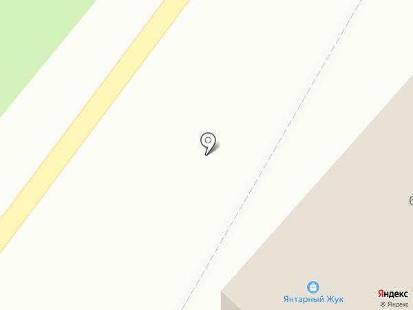 Янтарный жук на карте Янтарного