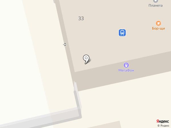 Паровоз на карте Светлогорска