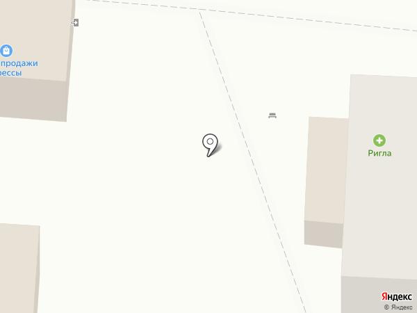 Ригла на карте Светлогорска
