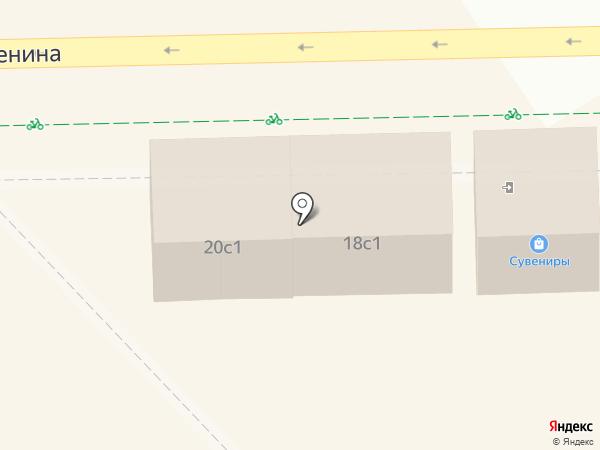 Янтарная лавка на ул. Ленина на карте Светлогорска