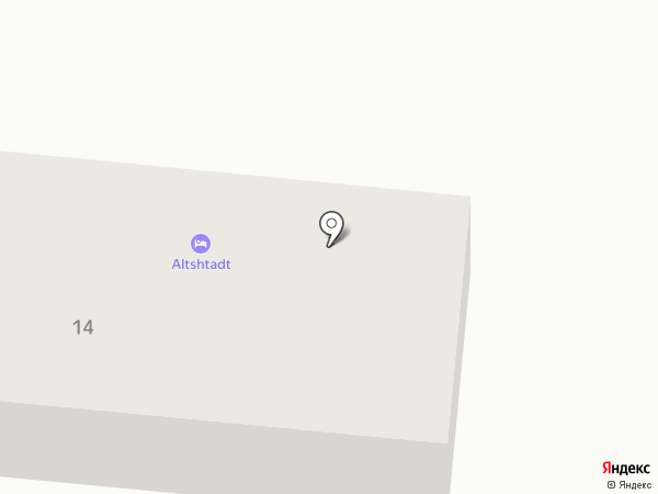 Альтштадт на карте Калининграда