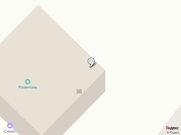 Симес на карте Калининграда