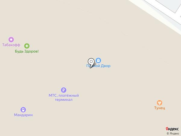 Гарнитур на карте Калининграда