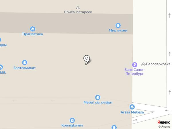 Склад Дверей на карте Калининграда