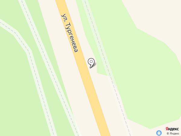 Светлана на карте Зеленоградска