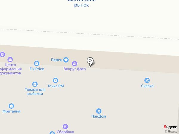 Этель на карте Калининграда