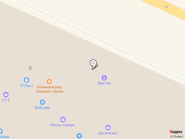 Юрист на Сельме на карте Калининграда