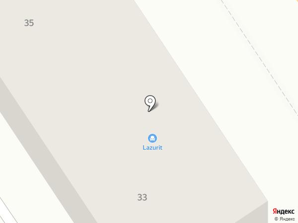 Лазурит на карте Калининграда