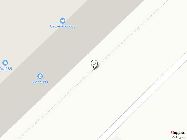 Солнечный на карте Калининграда