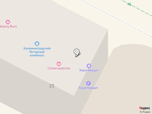 Параллель на карте Калининграда