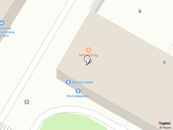 На Северном на карте Калининграда