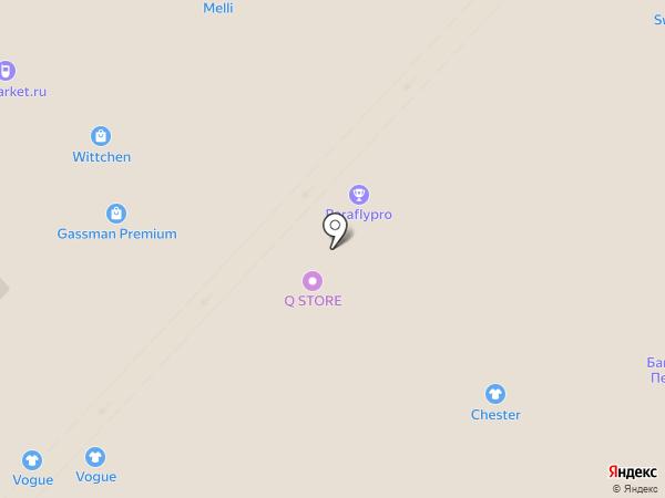 Бюстье на карте Калининграда