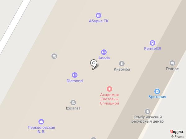 Всесоюзное на карте Калининграда