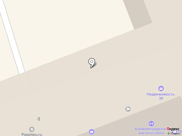 Юнибикс на карте Калининграда