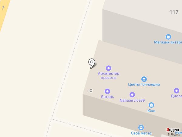 Модница на карте Калининграда