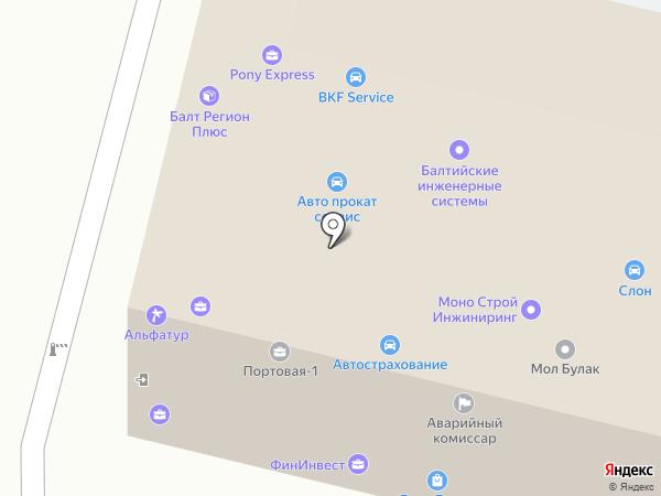 АвтоГлассРеал на карте Калининграда