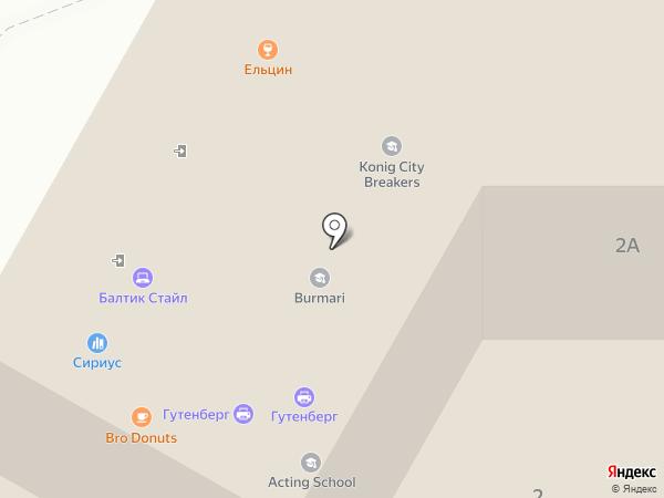 Резидент на карте Калининграда