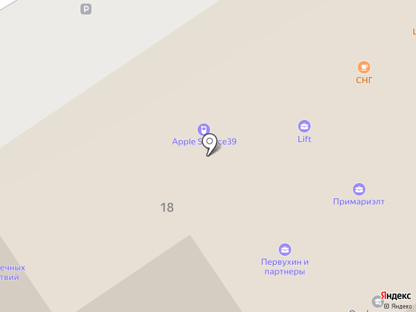 Прима риелт на карте Калининграда