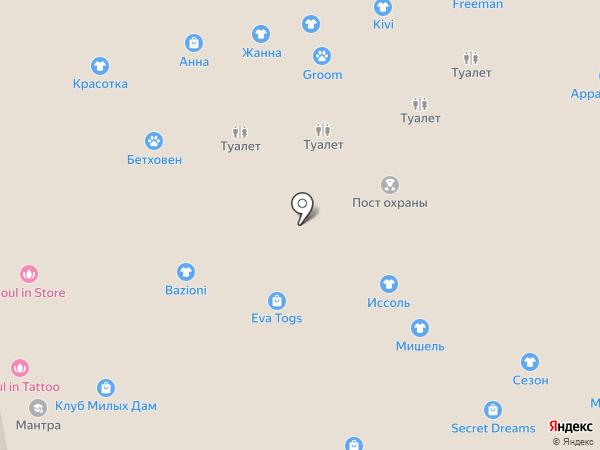 Муар на карте Калининграда