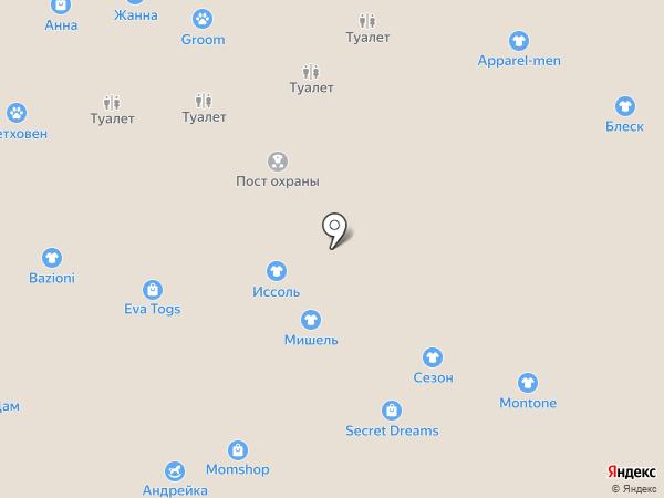 Прикитт на карте Калининграда