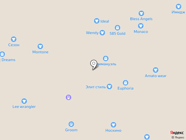 Хамелеон на карте Калининграда